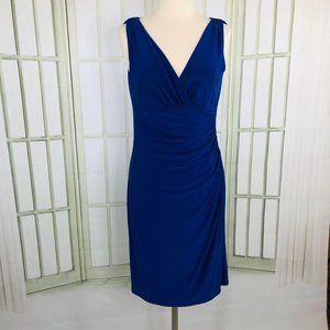 Ralph Lauren Womens Half Wrap Sheath Dress Size 12